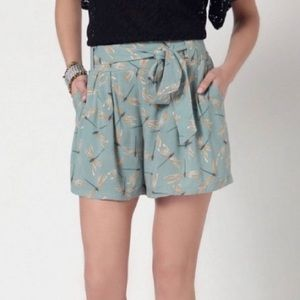 Anthropologie Dragonfly Shorts